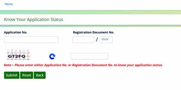 Dharani Portal Application Status