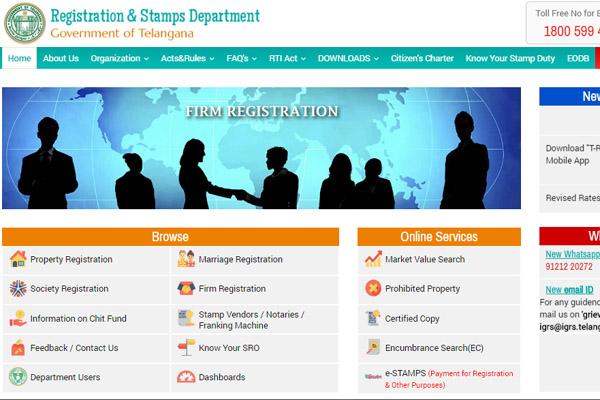 Official Web Portal of IGRS Telangana