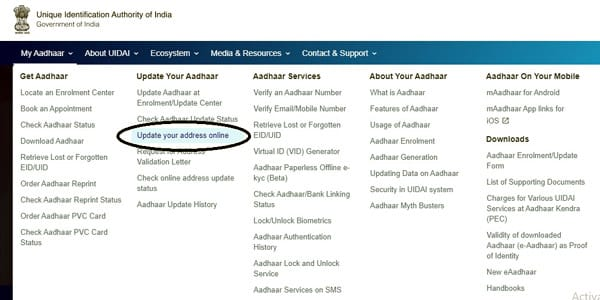 Official Website of UIDAI