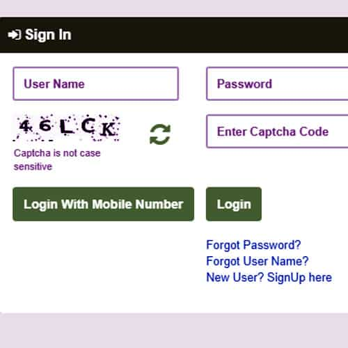 Income Certificate Login