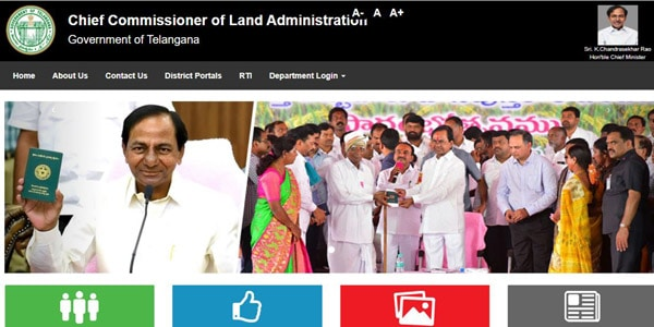 CCLA Telangana for Pahani or Ror 1B Land Records Website