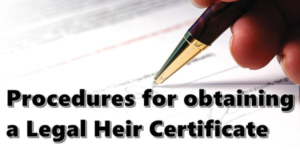 Apply for a legal heir certificate