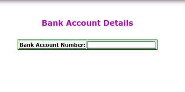 Kalyana laxmi bank account details