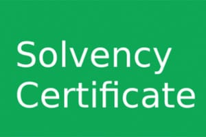 application form & Application procedure of Solvency certificate