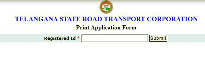Print Application at online.tsrtcpass.in