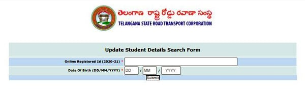 prices of buss pass registration & status