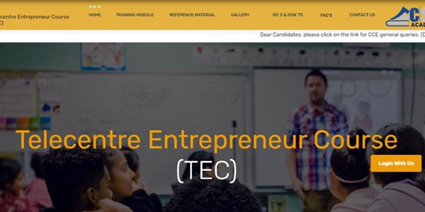 TEC certificate number for CSC center