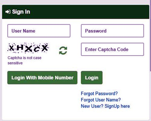TNESEVAI citizen login without mobile number