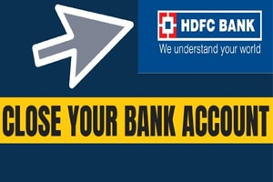 how to close hdfc bank account online